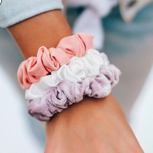 Pura Vida Sunset Scrunchie Set of 3 Pink Purple